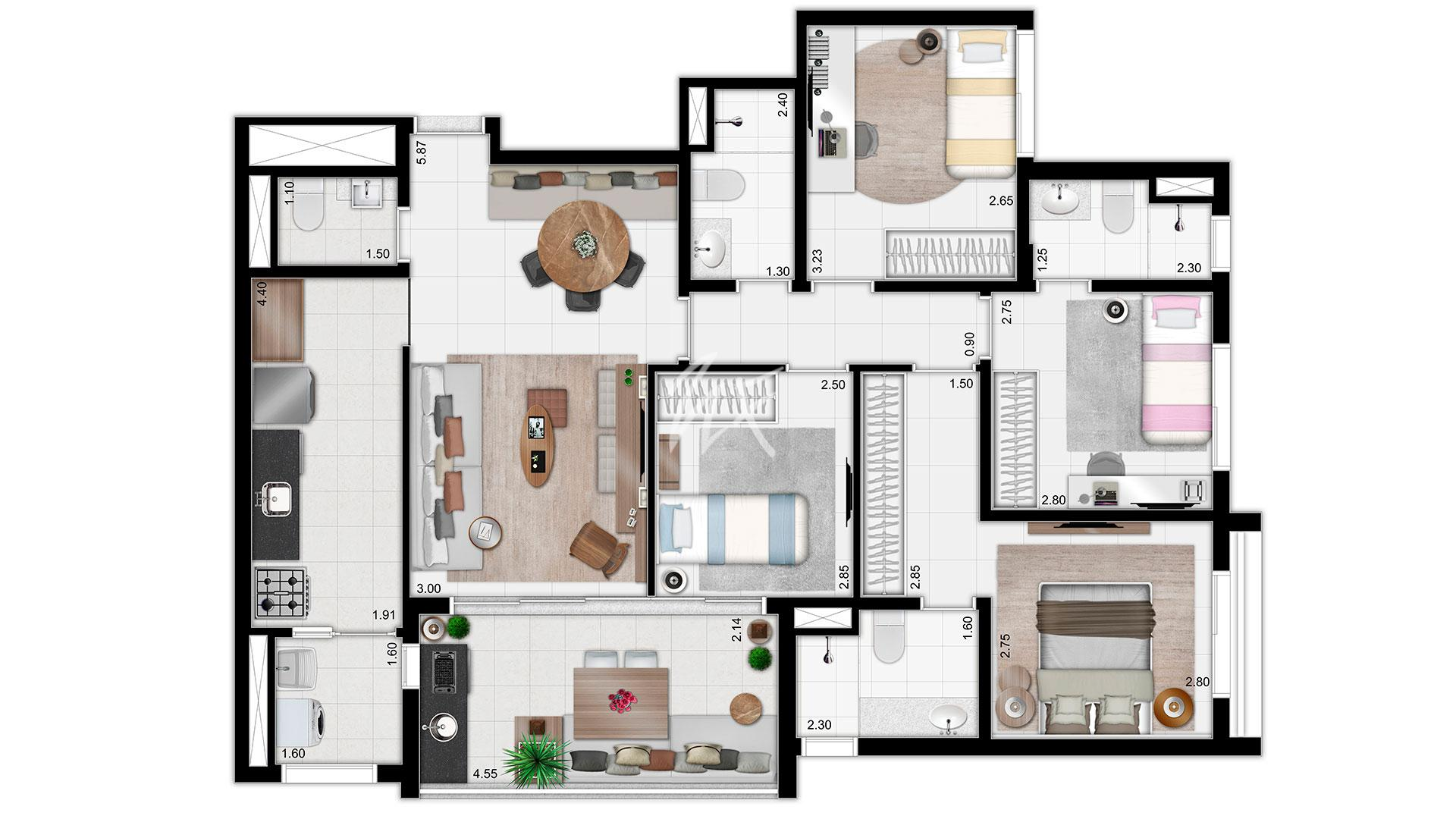 Tipo - 108m²